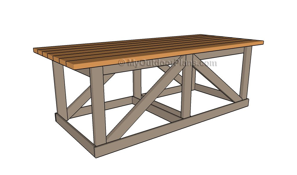 Wood Table Plans | Free Outdoor Plans - DIY Shed, Wooden Playhouse ...