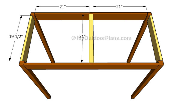Assembling the frame of the bar table