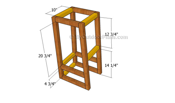 Assembling the frame of the stool