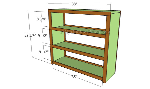 Craft table plans myoutdoorplans free woodworking for Attaching shelves to plastic shed
