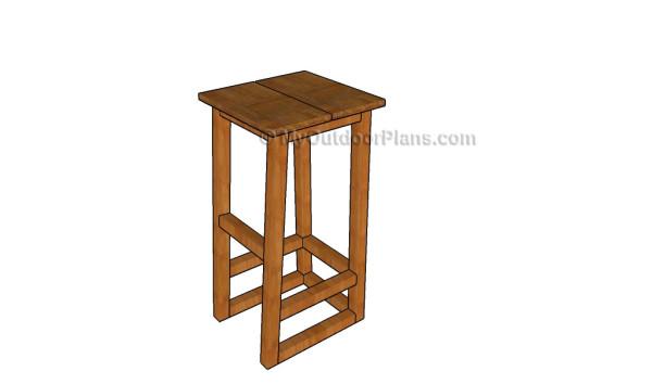 Wooden Bar Stool Plans ~ Bar stool plans myoutdoorplans free woodworking
