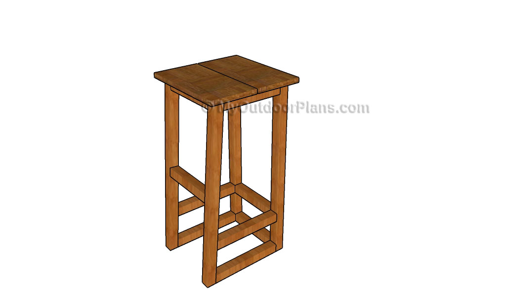 wood bar stool plans free