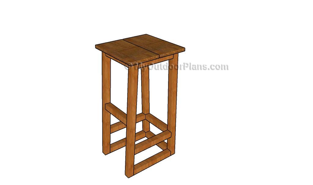 Build A Wooden Bar Stool ~ How to build a bar stool myoutdoorplans free