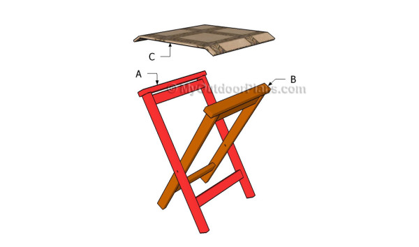 Building a folding stool