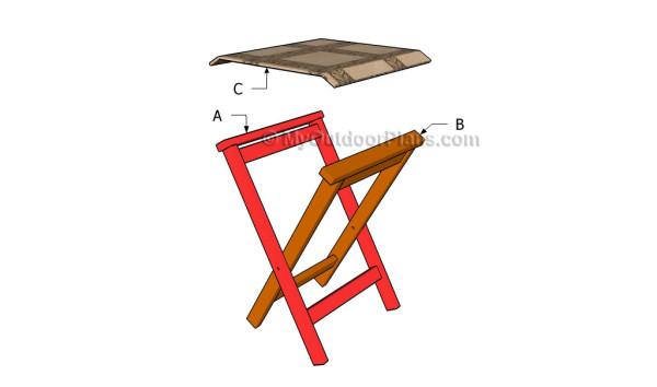 Building a folding stool
