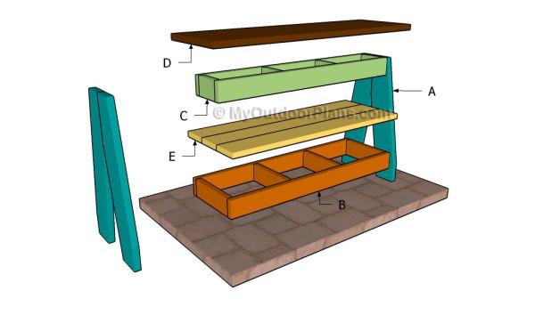 Building a shoe bench
