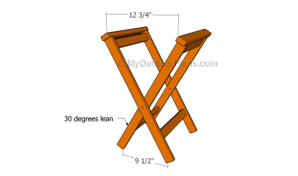 Folding Stool Plans Myoutdoorplans Free Woodworking