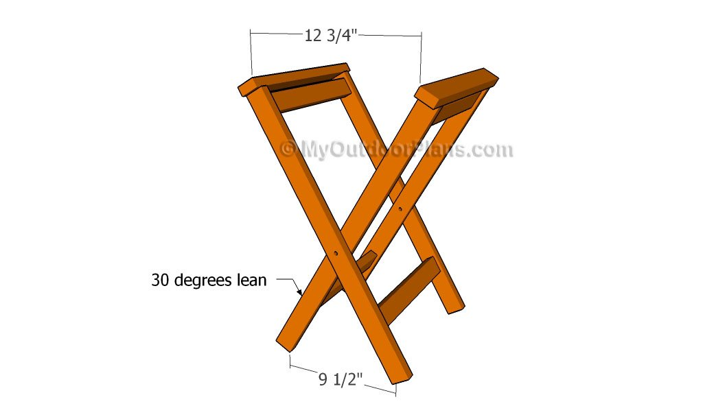 Folding Stool Plans | Free Outdoor Plans - DIY Shed, Wooden Playhouse ...
