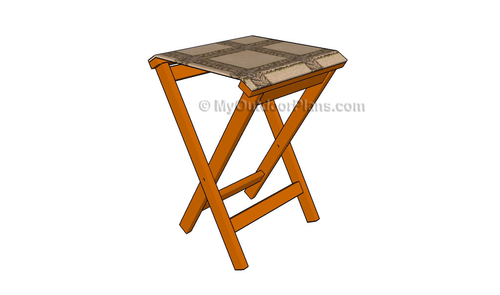 Folding Stool Plans Free Outdoor Plans Diy Shed