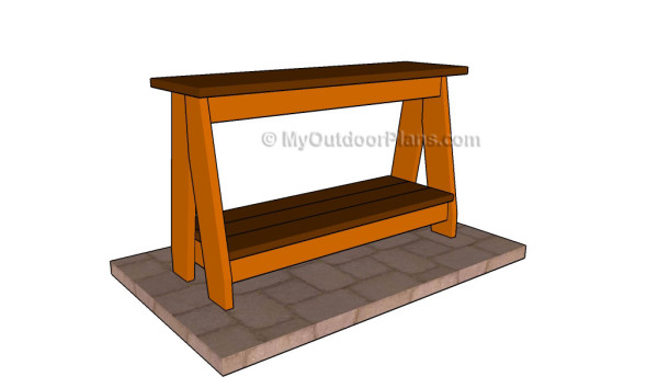 Shoe bench plans