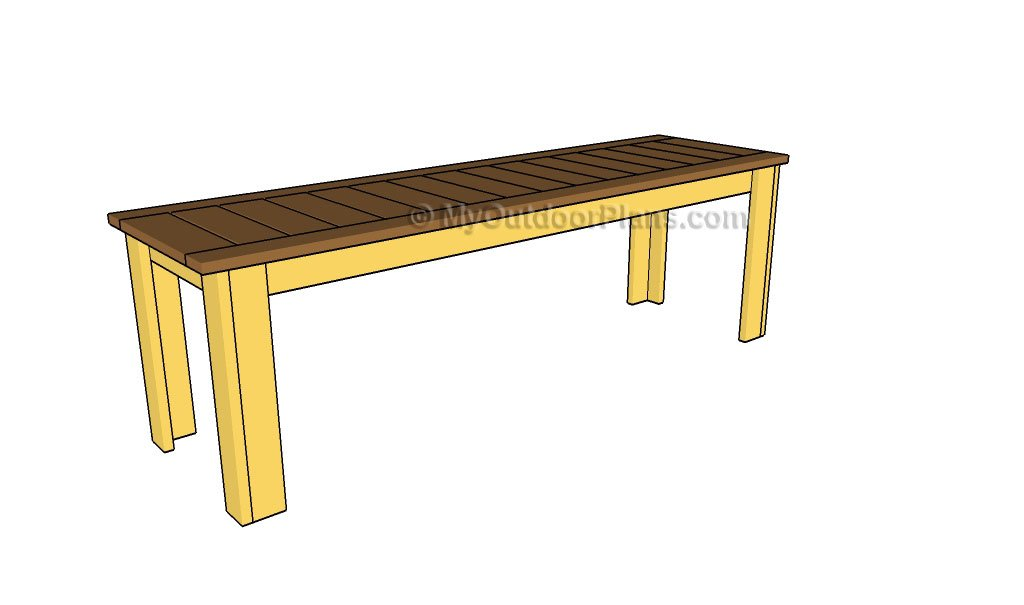 Simple Outdoor Bench Plans | Free Outdoor Plans - DIY Shed, Wooden ...