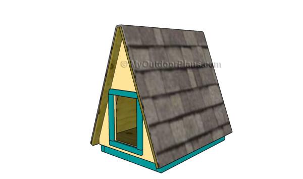 A-frame dog house plans