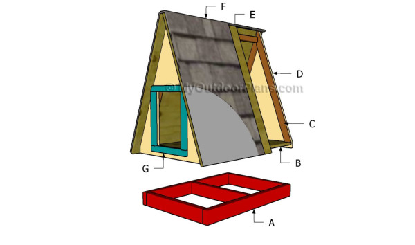 A frame Dog House Plans MyOutdoorPlans