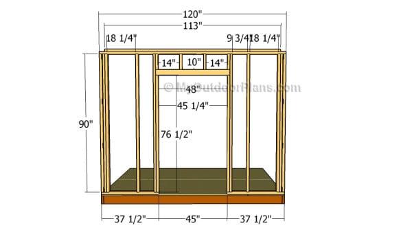 Building the door wall