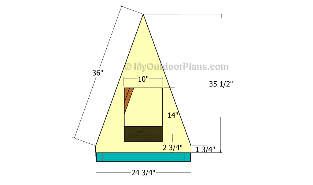 A frame Dog House Plans Free Outdoor Plans DIY Shed