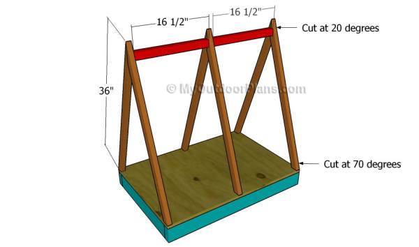 how to make a roof for a dog house