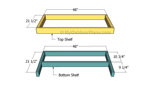 Building the shelf frames