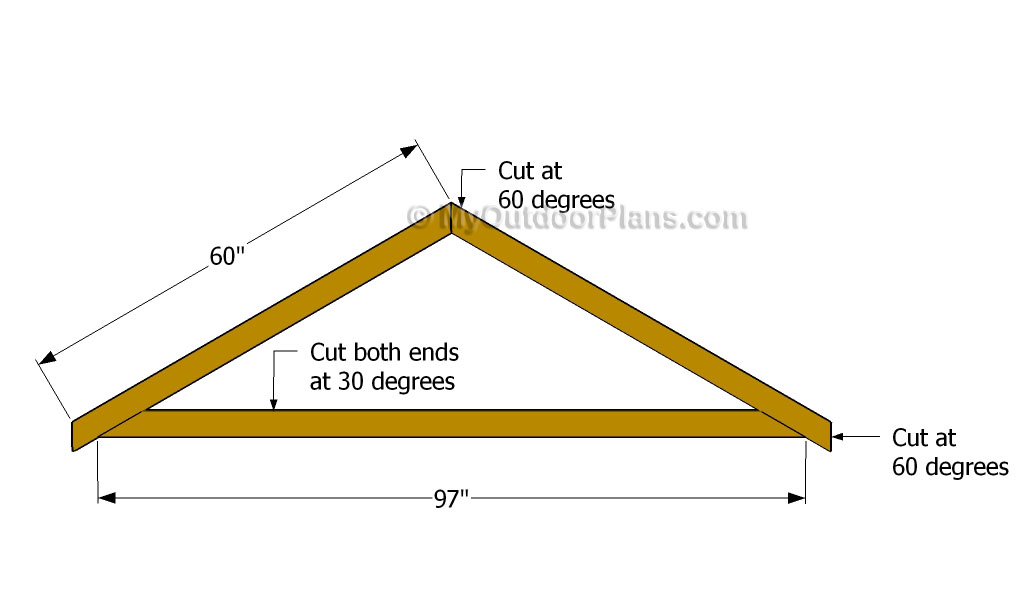 Diy shed roof plans free outdoor plans diy shed for Order roof trusses online