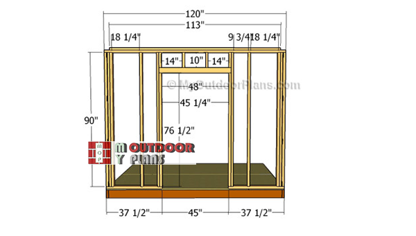 Building-the-wall-frame-with-door