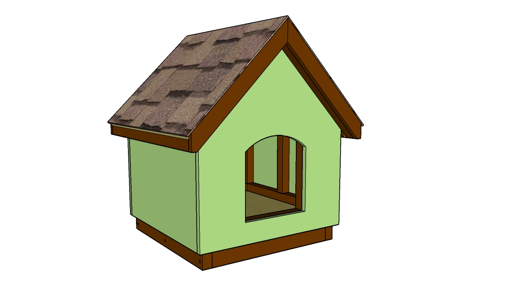 Small dog house plans myoutdoorplans free woodworking for Easy diy dog house