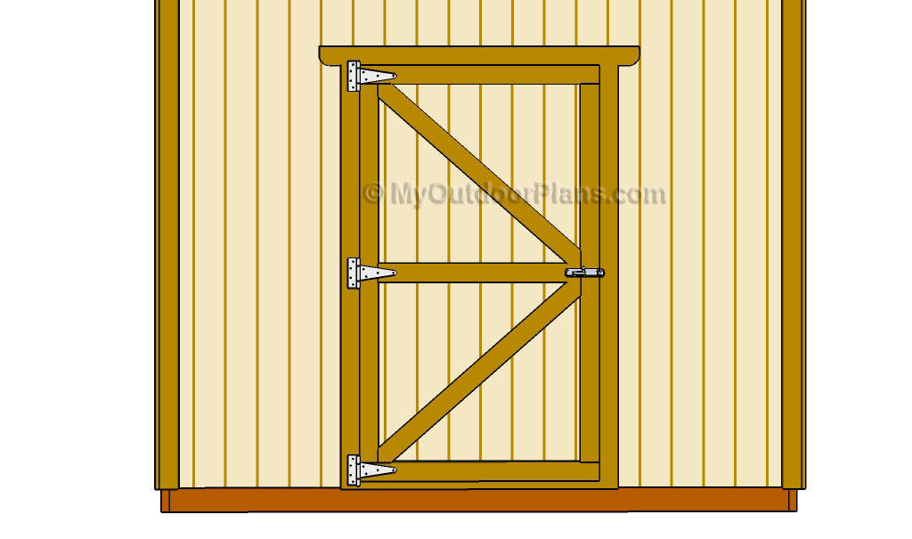Diy shed door plans for Double door shed plans