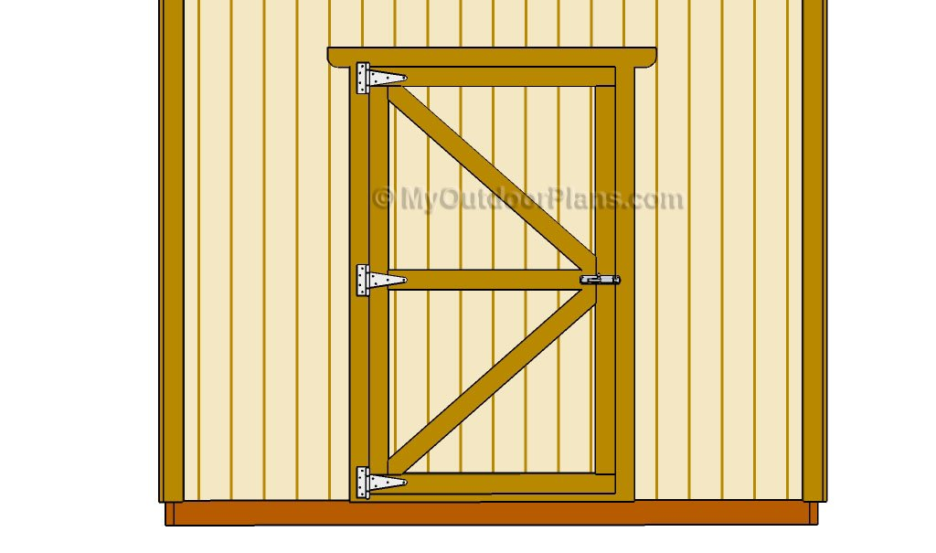 DIY Shed Door Plans