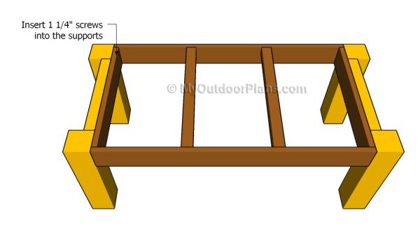 Attaching the frame of the table