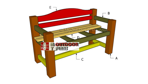 Building-a-bench-with-a-backrest