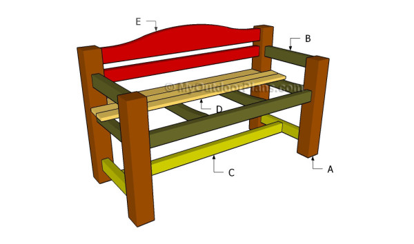 Building a bench with backrest