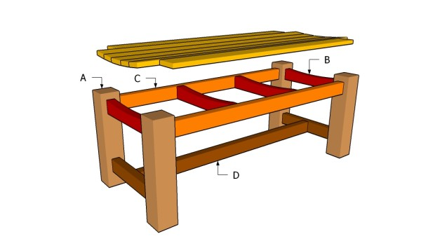outdoor wooden bench instructions