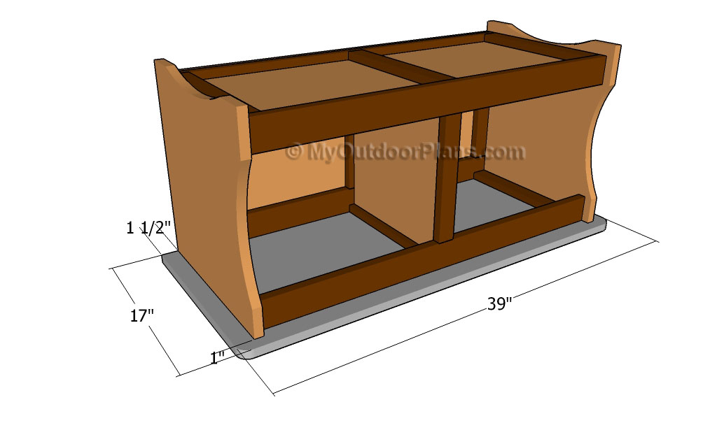 wooden storage bench plans | Popular Woodworking Guides