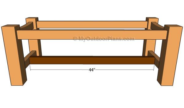 Installing the bottom strecher