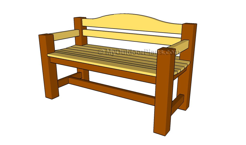 Outdoor Wooden Bench Plans How to Build a Simple Bench Patio Chair ...
