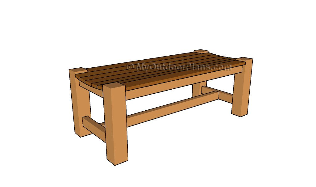 Patio Bench Plans | Free Outdoor Plans - DIY Shed, Wooden Playhouse ...