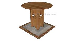 Pedestal Table Plans