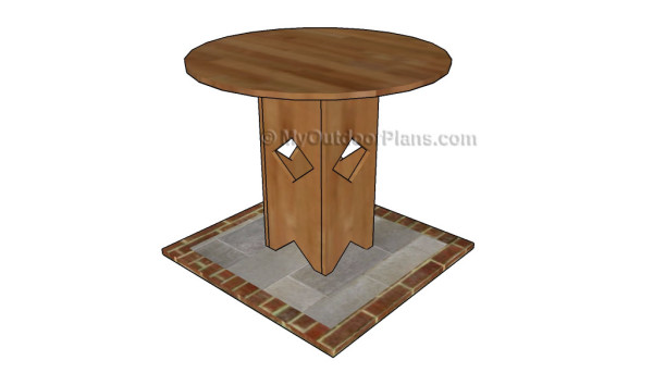 Pedestal table plans