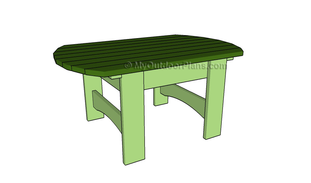 outdoor side table plans free