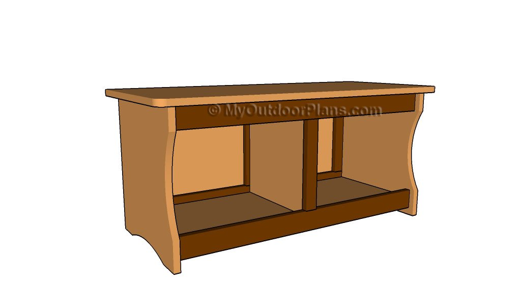 Simple Mudroom Storage Bench  Woodsmith Plans