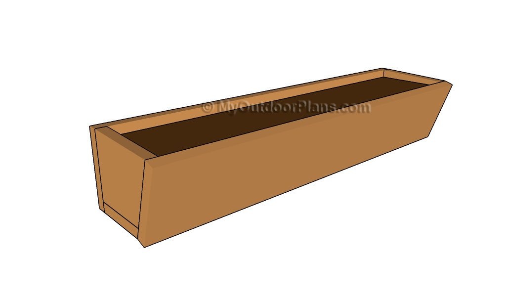cedar window flower box plans » woodworktips