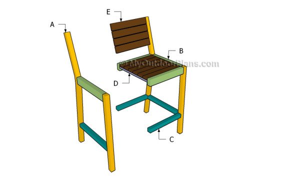 Outdoor Wood Bar Stool Plans