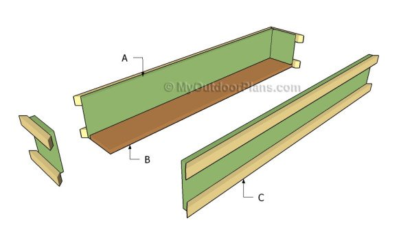 Building a deck rail planter