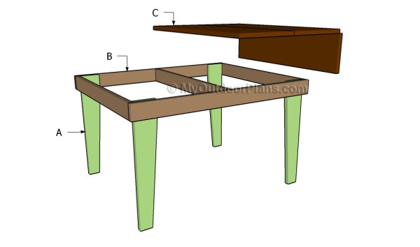 Building a drop-leaf table