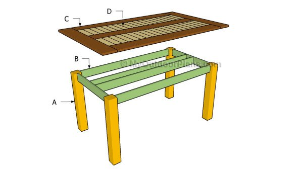 Building an outdoor dining table