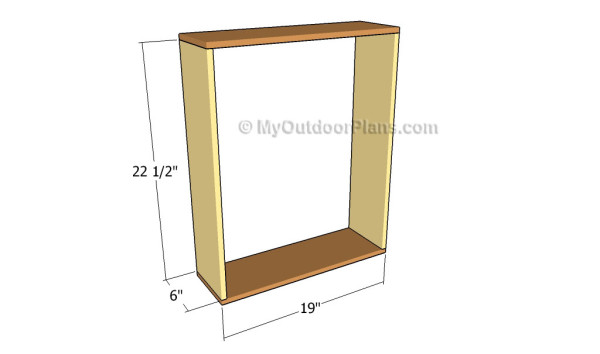 Building the frame of the wall shelf