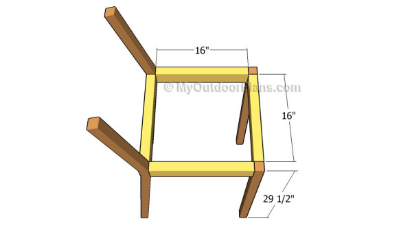 Building the stool stair