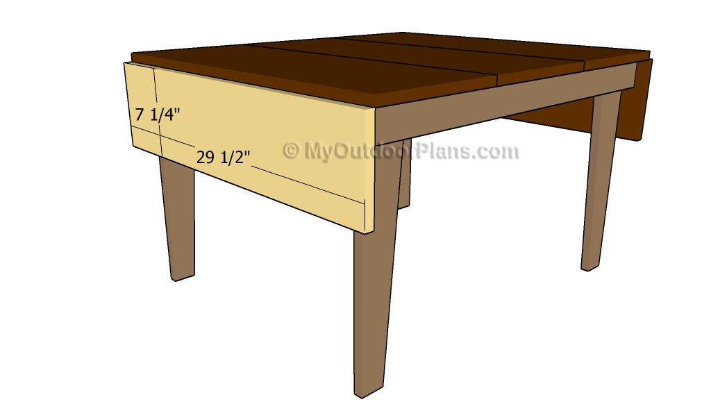 Drop leaf Table Plans | Free Outdoor Plans - DIY Shed, Wooden Playhouse, Bbq, Woodworking Projects