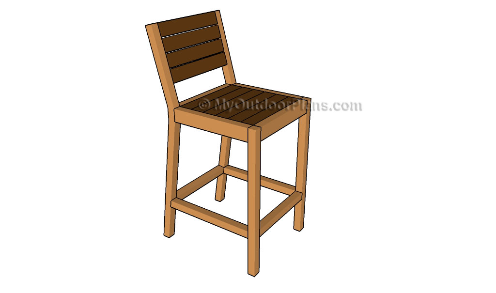 Pallet Bar Stool Plans Myoutdoorplans Free Woodworking