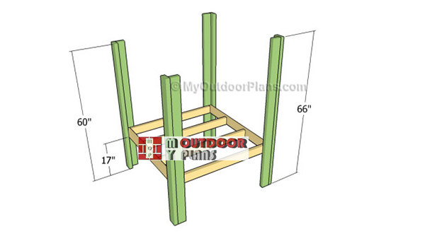 Attaching-the-legs-to-the-floor-frame