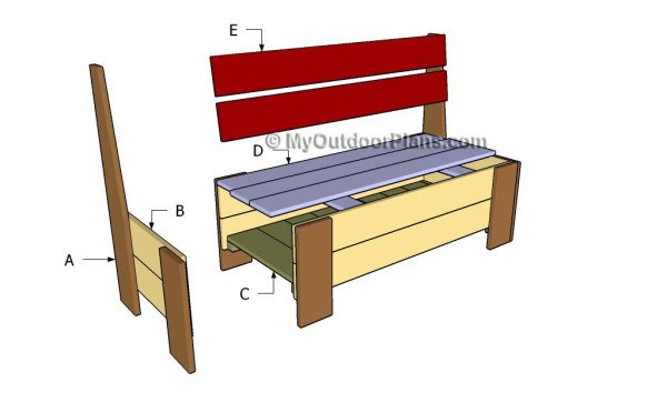 Building a bench with storage
