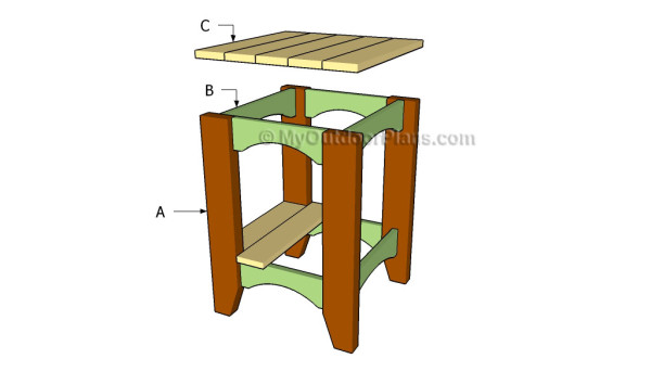 Outdoor Side Table Plans | Free Outdoor Plans - DIY Shed, Wooden ...